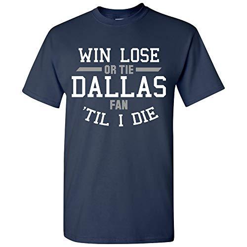 UGP Campus Apparel Dallas Fan 'Til Death - Dallas Sports Fan Team Spirit Hometown Pride T Shirt - Large - Navy (Mls Vomax Dallas)