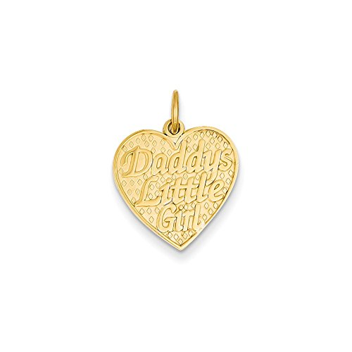 14K Yellow Gold Daddys Little Girl Charm
