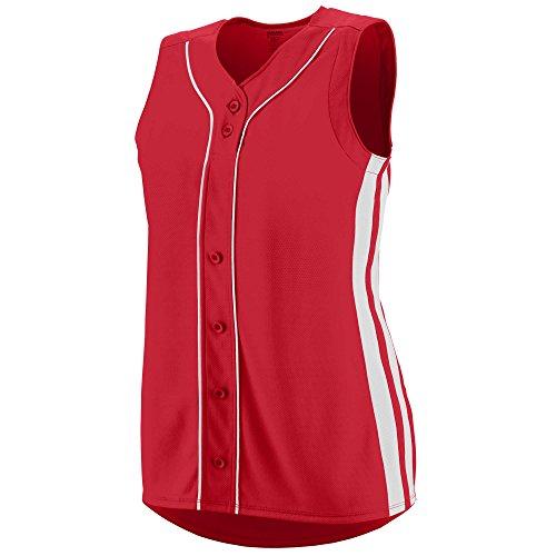 Augusta Sportswear GIRLS' WINNER SLEEVELESS SOFTBALL JERSEY M - Jersey Down Button Sleeveless