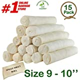 "Retriever roll 9-10"" (15 Pack) - Great Value Treat - Cowdog Chew️"