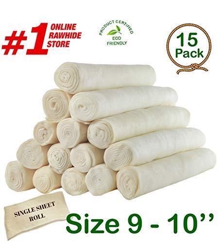 Retriever roll 9-10 (15 Pack) - Great Value Treat - Cowdog Chew️