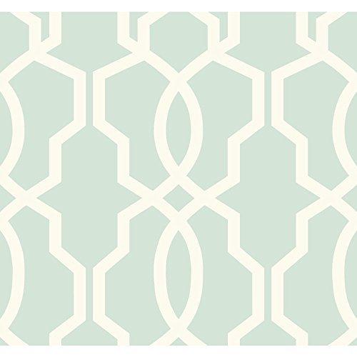 YORK GE3610 Ashford Geometrics Retro Links Wallpaper, Blu...