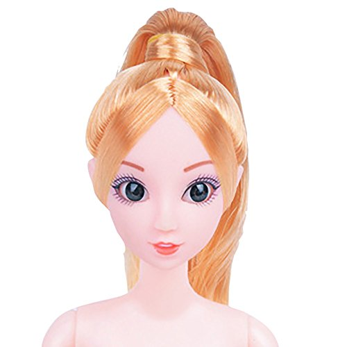 (Wffo Nude Doll with Head 12 Joint Moving Naked Bodies DIY Toys Accessories Gift Girl)