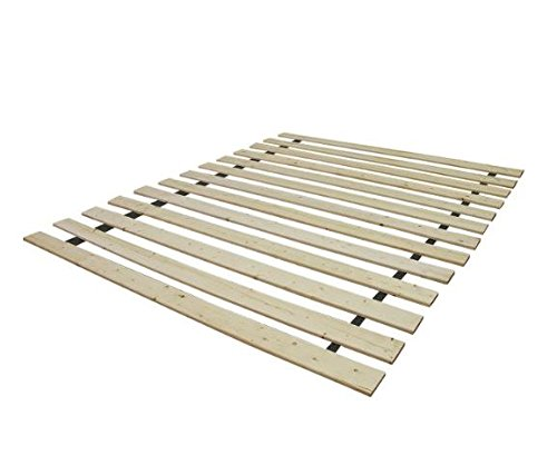 Spring Solution 1.5-inch Heavy Duty Mattress Support Wooden Bunkie Board/Slats, California King Size, Beige