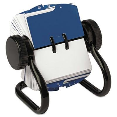 Rolodex - Open Rotary Card File Holds 250 1 3/4 X 3 1/4 Cards Black ''Product Category: Desk Accessories & Workspace Organizers/Card Files Holders & Racks''