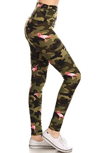 Leggings Depot LY5R-S514W Flamingo Camouflage