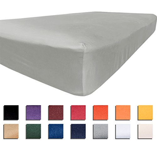 American Pillowcase University Colors Fitted Sheet Microfiber Dorm Bedding - Twin XL, Gray (University Bedding Of Alabama Sets)