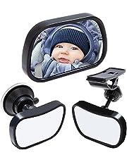 ONLYFU Baby Car Mirror Car Seat Mirror Rear Facing Infant Child Acrylic Baby View Mirror 360 Degree Adjustable Baby Car Back Seat Mirror Child Car Observation Mirror ( Black )