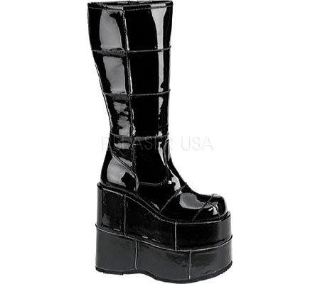 Demonia STACK 301 Herren Stiefel Blk Pat  Billig und erschwinglich Im Verkauf