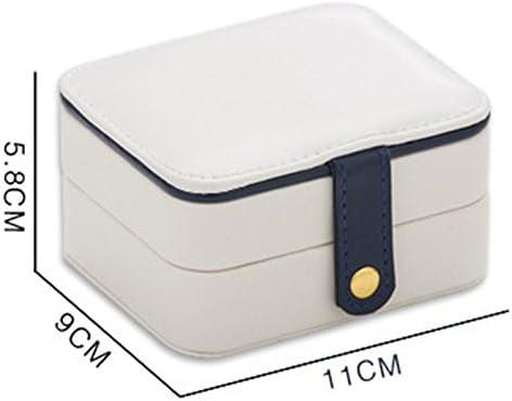 bleu clair 11/×9/×5.8cm bigboba Bijoux Portable Voyage Trois tufigen Design Bulk Trousse Multi Purpose Bijoux Cadeau Petit coffre de rangement Cuir