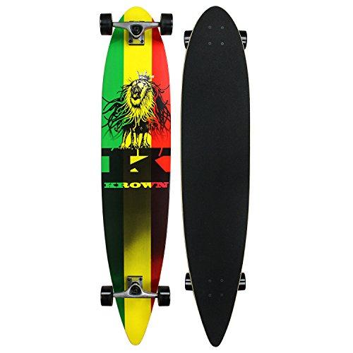 - Krown Rasta City Surf Longboard Skateboard