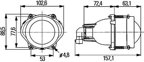 HB3-12V rund Einbauort: links//rechts Einbau HELLA 1ML 998 570-011 Hauptscheinwerfer DE//Halogen