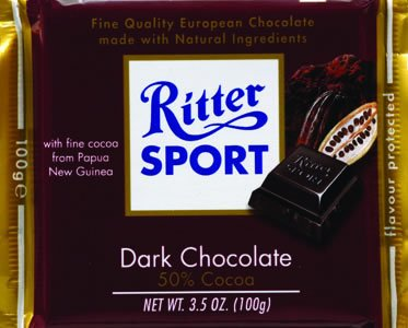 Ritter Sport Dark Chocolate Bar (Pack of 12)