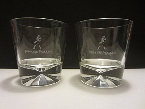 Set of 2 Johnnie Walker Black Label Scotch Whisky Walking...