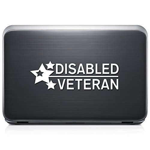 Disabled Veteran Military REMOVABLE Vinyl Decal Sticker For Laptop Tablet Helmet Windows Wall Decor Car Truck Motorcycle - (Helmet For Disabled)