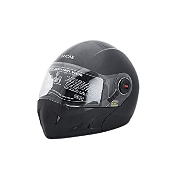 ae8075d7 Steelbird SB 41 Oscar Classic flip-up helmet (Black, 600 MM) with ...