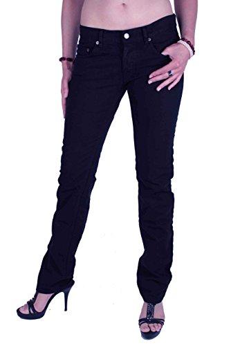 Prada Femmes Jeans Pantalons Bleu Fonc