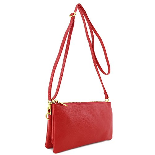 Leather Soft Faux Red Bag Wristlet Crossbody zZpxZUq