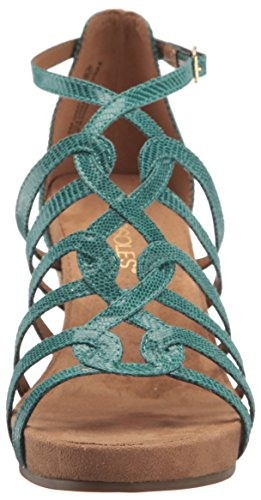 Aerosoles Women's Great Plush Wedge Sandal Turquoise eoJBwNtm