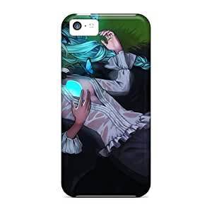 For Iphone 5c Tpu Phone Case Cover(hatsune Miku Twintails)