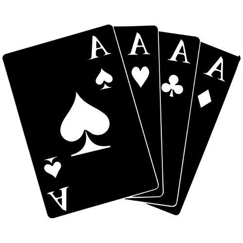 - Poker Hand Aces Decal Sticker (Black, Mirrored), Decal Sticker Vinyl Car Home Truck Window Laptop
