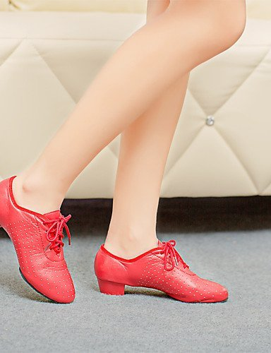 Noir bas Talon Non Black Moderne Chaussures danse Rouge de personnalisable ShangYi Cuir qcgx4wSt8c