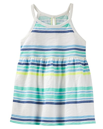 - Osh Kosh Girls' Toddler Short Sleeve Knit Tunic, Blue Green Stripe, 3T