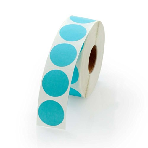 Blue Round Color Coding Inventory Labeling Dot Labels / Stickers - 1 Inch Round Labels 1000 Stickers Per Roll
