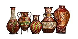 Deco 79 Metal Vase Wall Decor, 17 by 38\