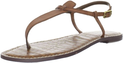 (Sam Edelman Women's Gigi Thong Sandal, Saddle Leather, 8 M US)