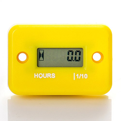 Runleader RL-HM006A Inductive Hour Meter for All Gasoline Engine ATV UTV Dirtbike Motobike Motocycle outboards Snowmobile pitbike PWC Marine Boat Waterproof (Yellow)