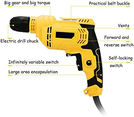 LYHXXX Household Lithium-ion Battery Hand Drill, Electric Screwdriver Electric Screwdriver 450w Positive and Negative, Pure Copper Motor, Adjustable Speed