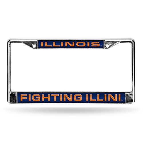 NCAA Illinois Fighting Illini Laser Cut Chrome Plate Frame