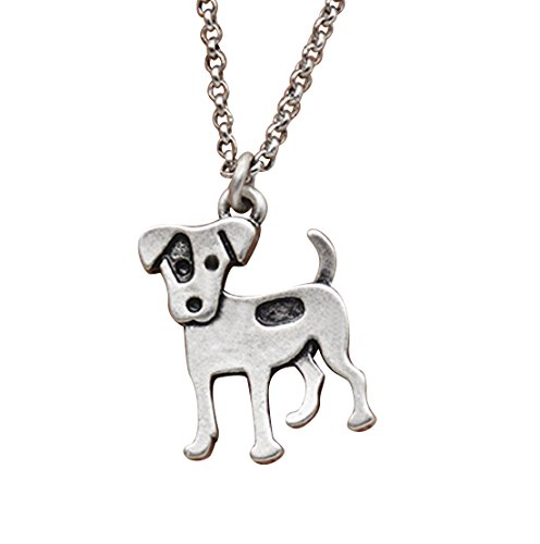 Russell Necklace Jack (Cute Vintage Jack Russell Terrier Dog Pendant Necklace)