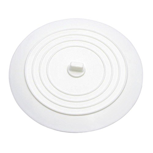 Dxg 6 Inches Silicone Tub Stopper Drain Plug, Sink Stopper For Your Kitchens, Bathrooms and Laundries (White)