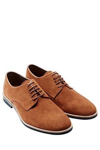next Hombre Con Cordones Formales Informales Casuales Zapatos De Vestir Derby De Ante Bronceado