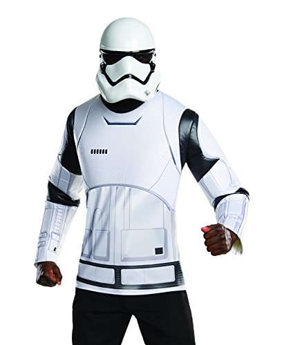Star Wars Rubie's Costume Co Men's VII The Force Awakens White Villain Trooper, Multi, (Mens Masquerade Costumes Ideas)