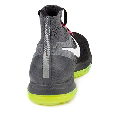 Nike-Mens-Zoom-All-Out-Flyknit-BlackWhite-Cool-Grey-Volt-Running-Shoe-95-Men-US