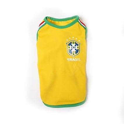 Copa del Mundo de Brasil perro camiseta de fútbol XS – XL