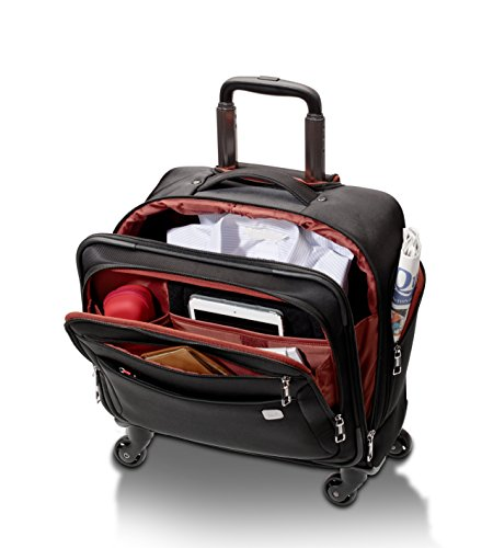 SWIZA Cassus Compact Overnight Business or Weekend Soft-Sided Spinner Luggage - Black by Swiza (Image #1)