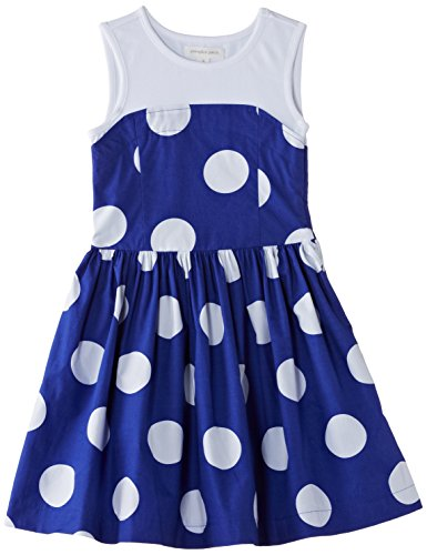 Pumpkin Patch Big Girls' Spotty Skater Dress, Royal Blue, 7