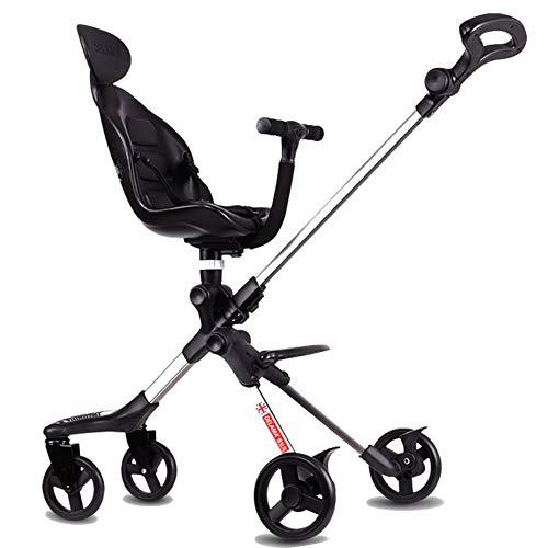 Cochecito de bebé, plegable ligero se puede llevar con sistema de seguridad de 3 puntos y asiento reclinable de múltiples...