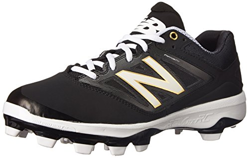 Mens Molded Baseball Cleats (New Balance Men's PL4040V3 TPU Baseball Shoe, Black/White, 12.5 D US)