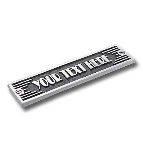 The Metal Foundry Custom Text Metal Door Sign. Art Deco Style Home Décor Accessories Door Or Wall Aluminium Plaque. Handmade in - Customizable Sign Vintage