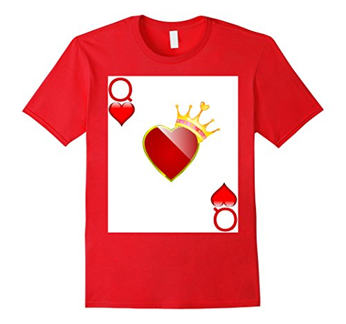 King Of Hearts Costumes For Adults (Mens Halloween Costume TShirt Couple Great King Queen Hearts 3XL Red)