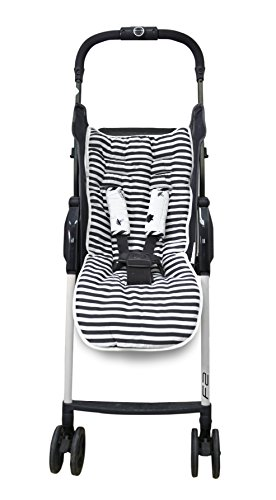 toTs Stroller Liner + Padded Safety Strap Covers, Forest, Black & White by toTs (Image #4)