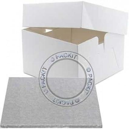 Base y caja para pastel de boda o cumpleaños (diámetro: 35,56 cm
