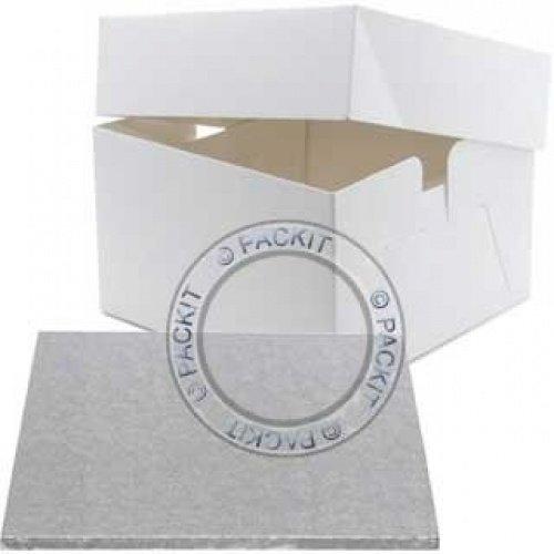 Base y caja para pastel de boda o cumpleaños (diámetro: 35 ...