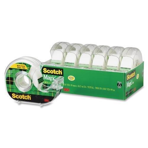 Non Yellowing Photo Safe Dispenser - 6122 Scotch Magic Invisible Tape - 0.75