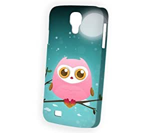 Case Fun Samsung Galaxy S4 (i9500) Case - Vogue Version - 3D Full Wrap - Pink Owl by DevilleART